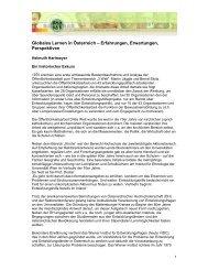 Globales Lernen in Österreich – Erfahrungen ... - Baobab