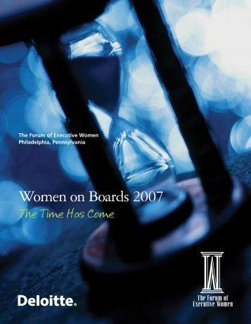 Women on Boards 2007 - Directors & Boards