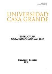 estructura orgánico-funcional 2013 - Universidad Casa Grande