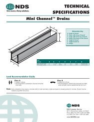 Mini Channel Technical Specifications - NDS