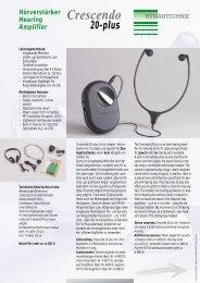 Hörverstärker Hearing Amplifier Crescendo 20-plus