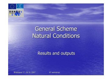 General Scheme Natural Conditions - Donauregionen