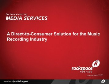 A Direct-to-Consumer Solution for the Music Recording Industry