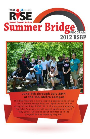 2012 Summer Bridge Brochure 1 - Tulsa Community College