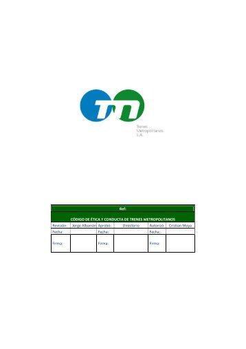 Codigo de Etica y Conducta Propuesto TMSA