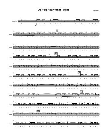 SNARES Do You Hear What I Hear.pdf - McGinnisBand