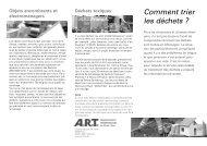 Comment trier les déchets ? - ART