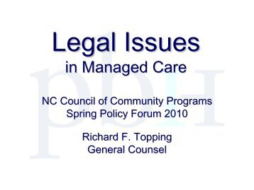 Legal Issues in Managed Care - Cardinal Innovations Healthcare ...