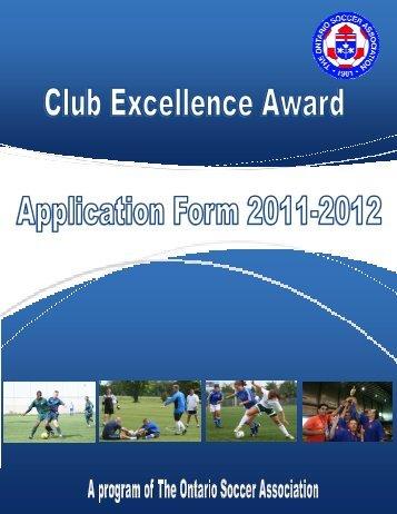 Application Form 2011-2012 - Ontario Soccer Association