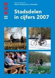 Stadsdelen in cijfers 2007 - Onderzoek en Statistiek Amsterdam ...
