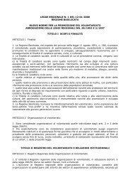 LEGGE REGIONALE N. 1 DEL 12-01-2000 ... - CSV Basilicata