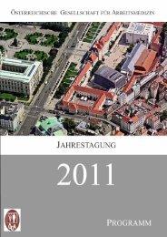 Programm - Österreichische Gesellschaft für Arbeitsmedizin