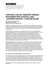 VORTRAG VON DR. KERSTIN THOMAS IM RAHMEN DER - Schirn