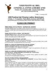 Elenco dei premiati.pdf - Festival del Cinema Latino Americano a ...