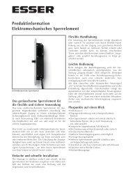 Produktinformation Elektromechanisches Sperrelement
