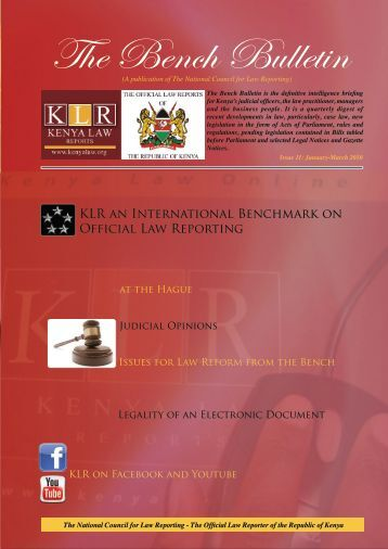 Bench Bulletin - Issue 11 - Kenya Law Reports