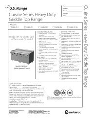 Cuisine Series Gas Griddle-Top Ranges, Models C2836 ... - Garland