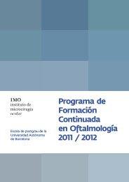 Programa de Formación Continuada en Oftalmología 2011 ... - Imo