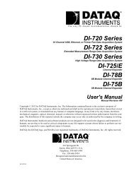 DI-720 Series - DATAQ Instruments