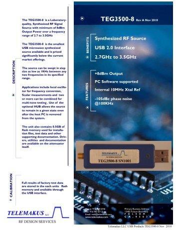 TEG3500-8 DataSheet - RfMW