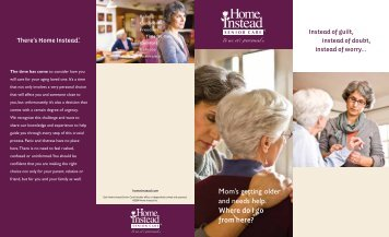 How We Can Help - Home Instead Senior Care