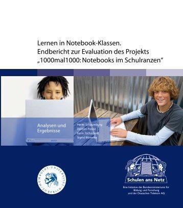 Lernen in Notebook-Klassen. Endbericht zur Evaluation des Projekts