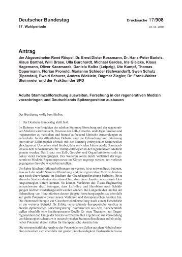 BT-Drs 17/908 (Antrag) - Deutscher Bundestag