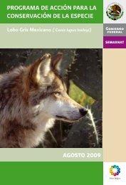 Programa de Acción para la Conservación del Lobo ... - Conanp
