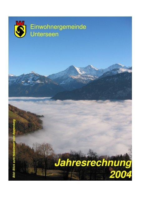 Jahresrechnung 2004 - Unterseen