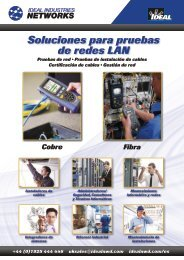 Soluciones para pruebas de redes LAN - Ideal Industries