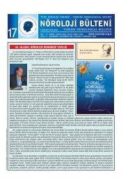 Nöroloji Bülteni Sayı 17 - Türk Nöroloji Derneği