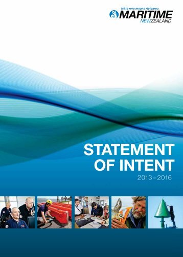 Maritime New Zealand Statement of Intent 2013-2016
