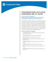 TRANSWESTERN OUTLOOK SUBURBAN MD AT Q2O8