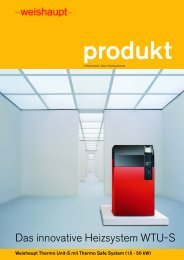 Weishaupt Thermo Unit-S mit Thermo Safe System (15 - 50 kW)