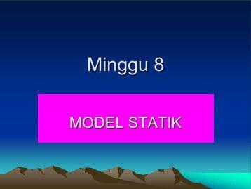 Model statik