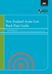 New Zealand acute low back pain guide, incorporating the ... - ACC