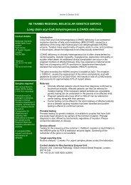 Long chain acyl-CoA dehydrogenase (LCHAD) deficiency