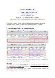 Examen LANGDOC – SI 2 2 Partie : XML/CSS/DTD/XSD Durée 2h ...
