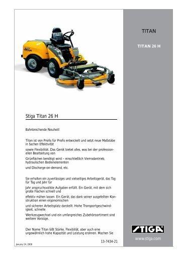 Stiga Titan 26 H TITAN - IMA Aschaffenburg