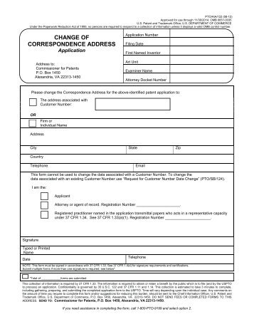 AIA/122 - United States Patent and Trademark Office