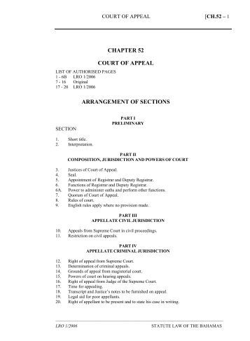 Court of Appeal Act - The Bahamas Laws On-Line
