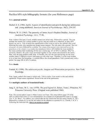 Apa bibliography page