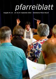 Ausgabe Nr. 13 14. bis 27. September 2013 ... - Pfarrei-ruswil.ch