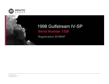 1998 Gulfstream IV-SP - Business Air Today