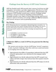 2_A1 Findings from the Survey of ATP Joint Ventures