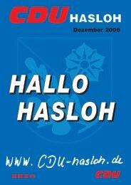 Ausgabe Dezember 2006 - CDU OV Hasloh