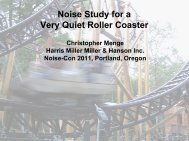 Noise Study for a ery Quiet Roller Coaster - HMMH