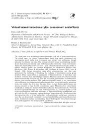 Virtual team interaction styles: assessment and effects