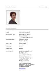 Heike M. Windfelder Curriculum Vitae Personal Information