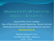 Link to slides used in tutorial - Department of Electrical and ...
